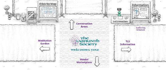 Screenshot of center of TLS Topia world