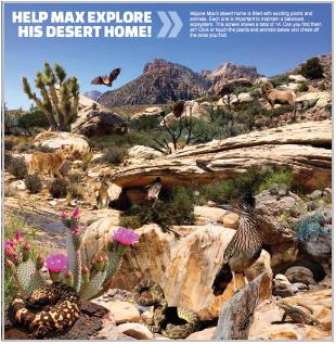 Mojave Max Kid's Adventure Page