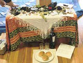 Altar at the 1999 Gathering, Denver, Colorado. Photo by Chuck Hunner