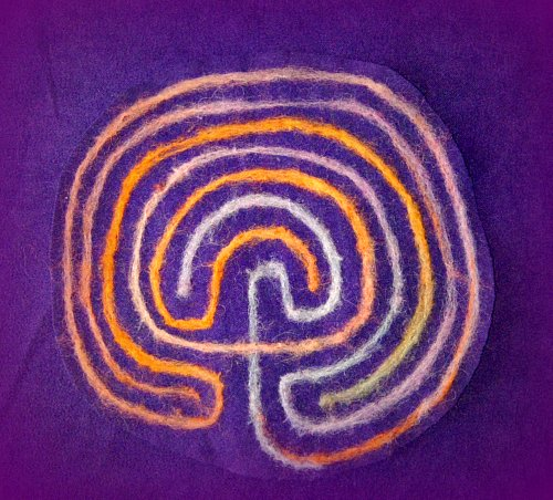 Felted Labyrinth