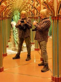 Jeff Saward in the Mirrored Labyrinth, Lucerne, Switzerland 2015.