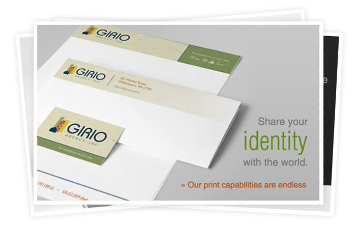 Founded in 1957, Girio Agency requested an up-to-date brand for their print media.