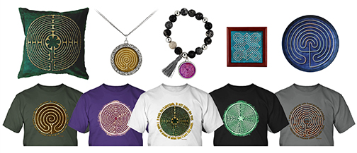 Labyrinth gifts and shirts