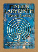 Finger labyrinth travel cards